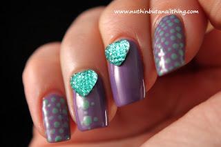 Born Pretty Store Diamante Heart Rhinestones