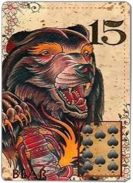 carta de lenormand 15 oso