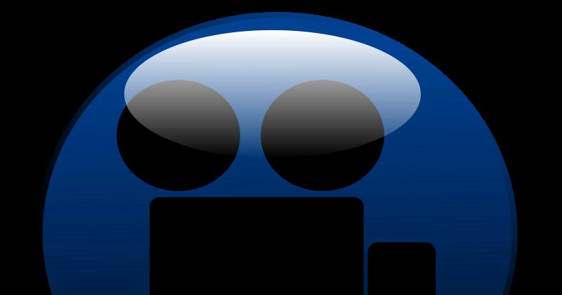 Bot n con icono de una c mara de v deos imagenes sin for Icono boton