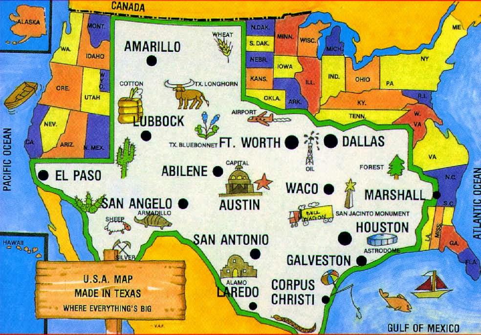 mapa de ciudades de texas gallery