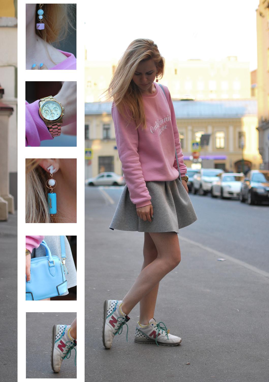 уличный стиль, спортшик, свитшот, с чем носить юбку из неопрена