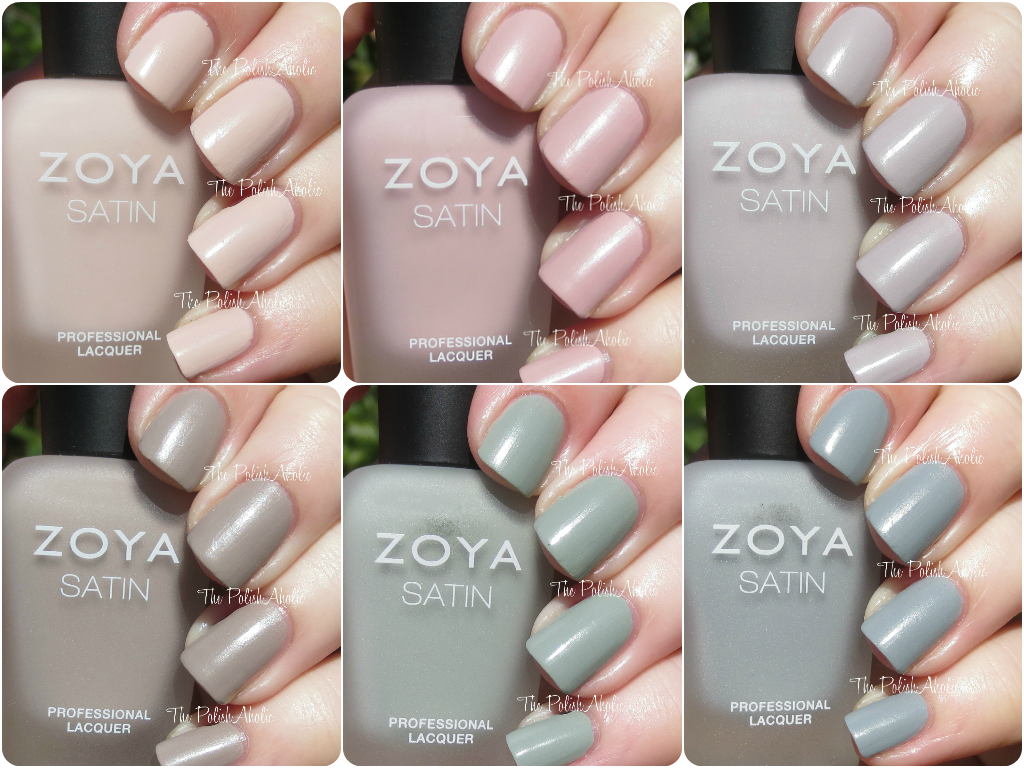 The PolishAholic: Zoya Naturel Satins Collection Swatches & Review
