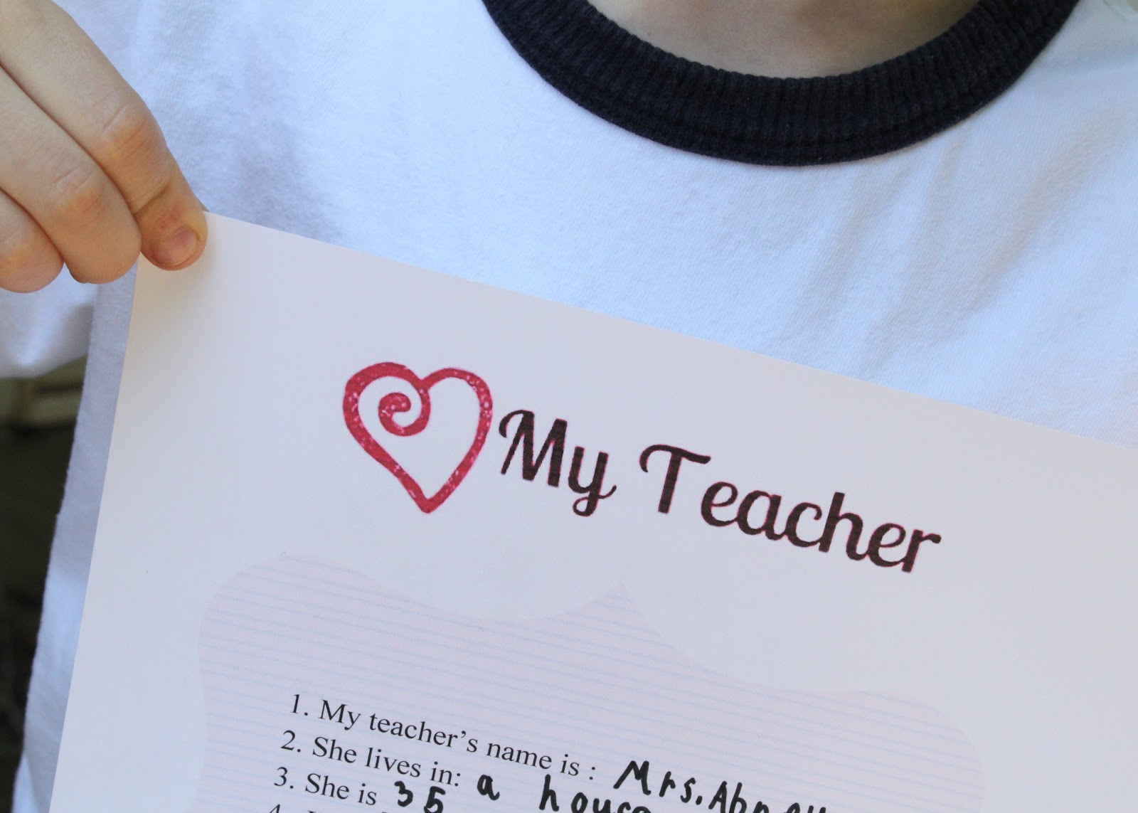 all about my teacher questionnaire printable
