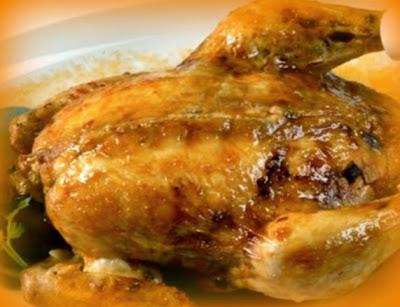Pollo relleno puertorriqueño