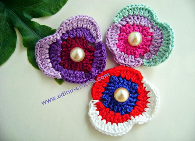 flores em croche com Edinir-Croche