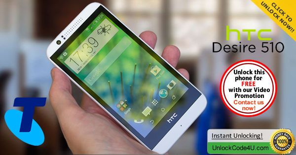 Factory Unlock Code HTC Desire 510 from Telstra