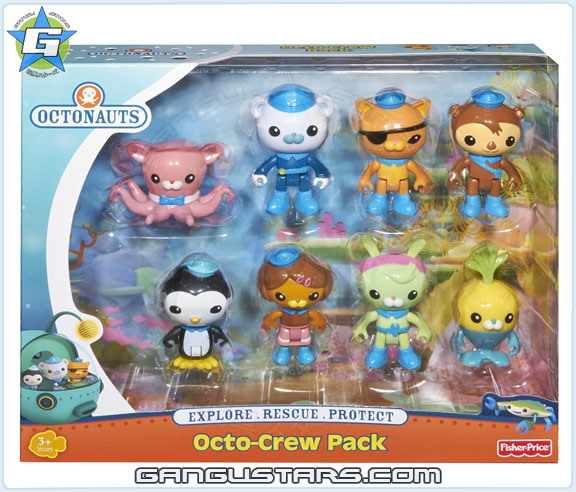 the Octonauts オクトノーツ Octo-Crew Pack 8 pack Fisher-Price toys ダシー クワジー キャプテン・バーナクルズ トゥイーク