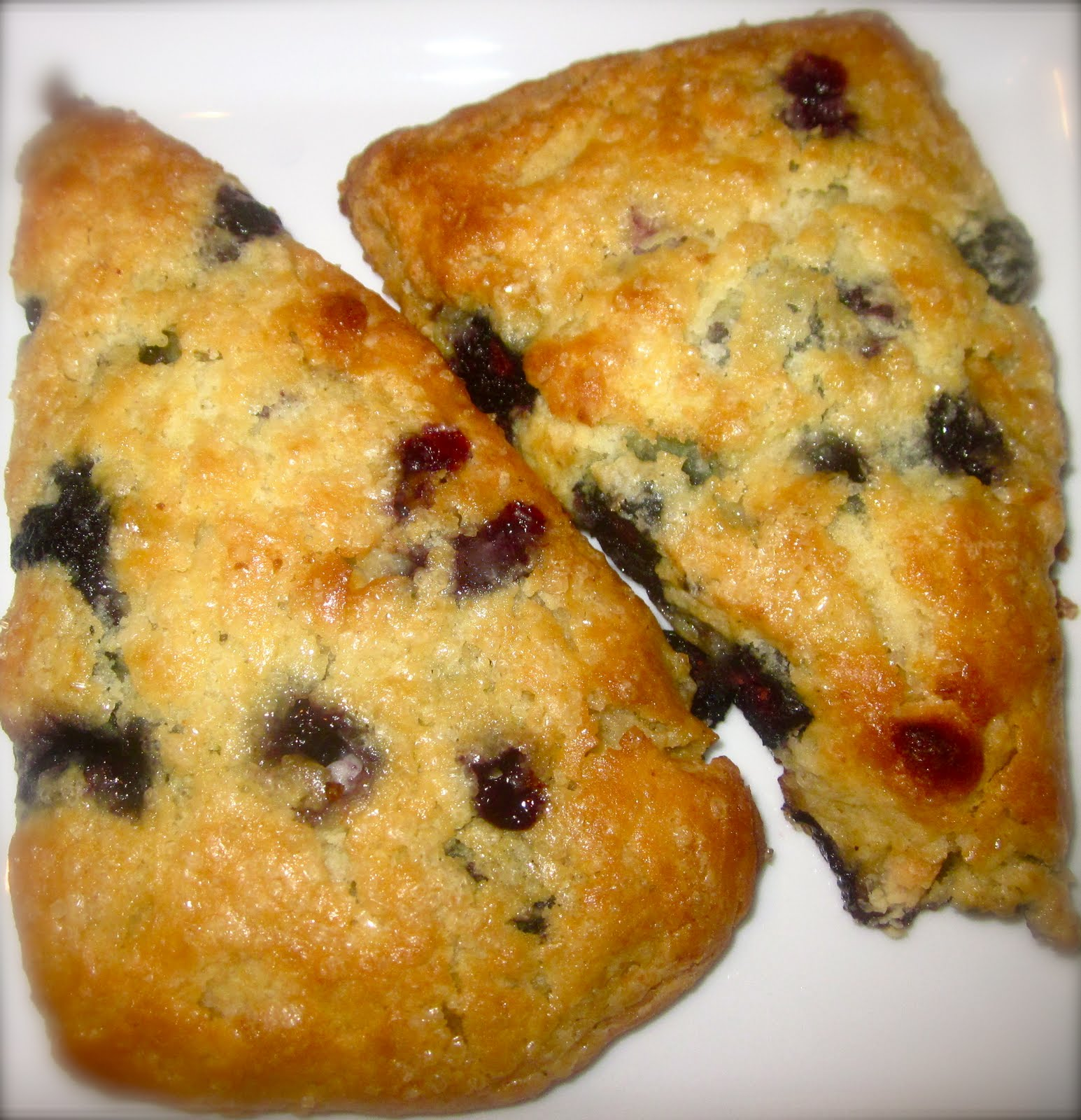 Haute + Heirloom: Blueberry-White Chocolate Scones