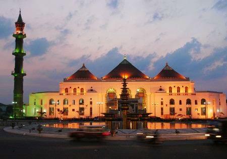 Masjid agung sultan agung baharudin I objek tempat wisata di palembang