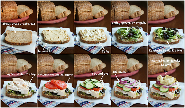 """The Greek"", A Satisfying Sandwich Recipe from www.the-taste-tester.com"
