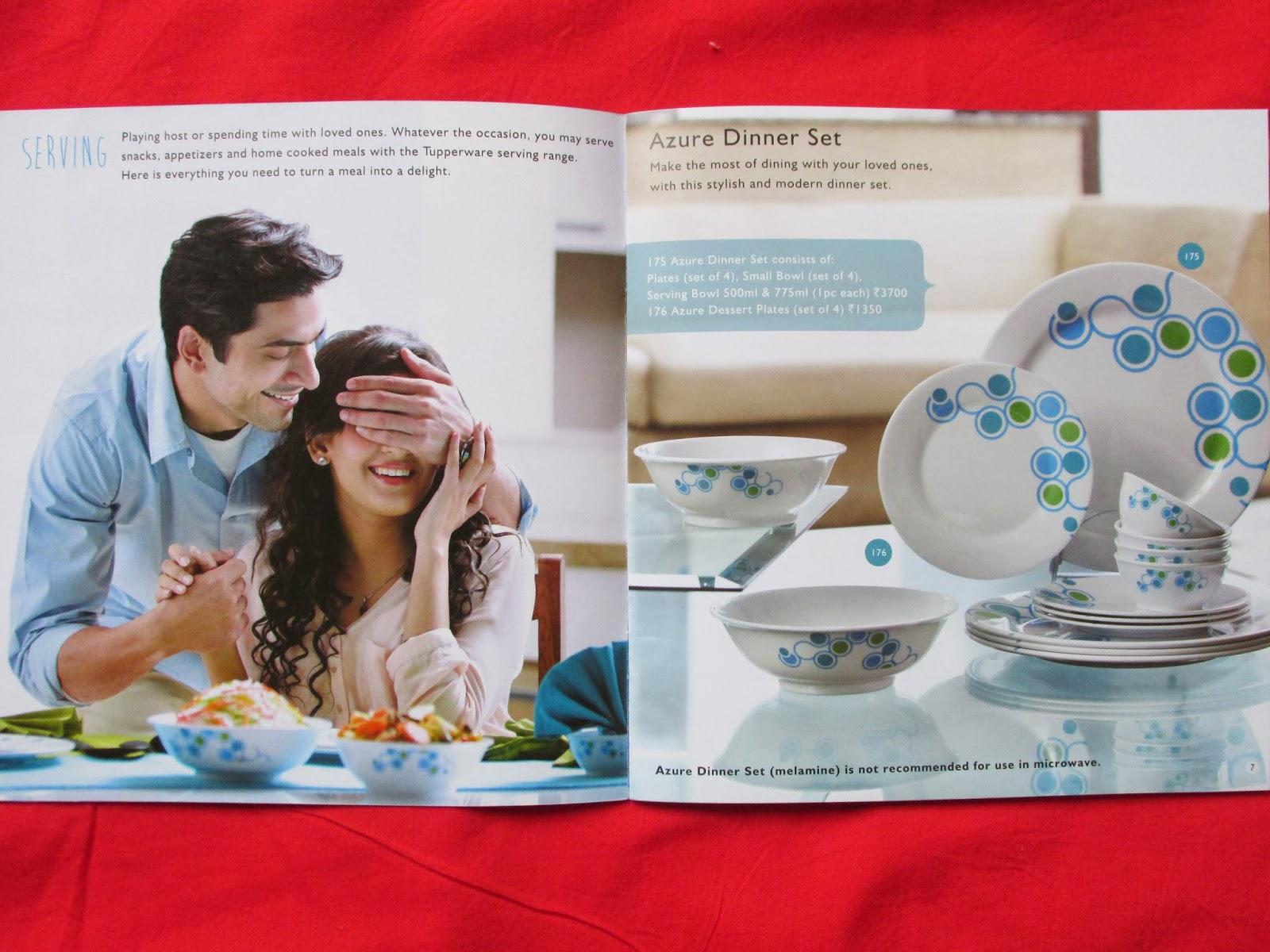 Buy Tupperware Products Catalogue January 2014 Eleganzia Bowl 600ml 4 Set Azure Dinner