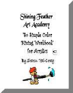 Shining Feather Color Mixing Workbook and DVD kit