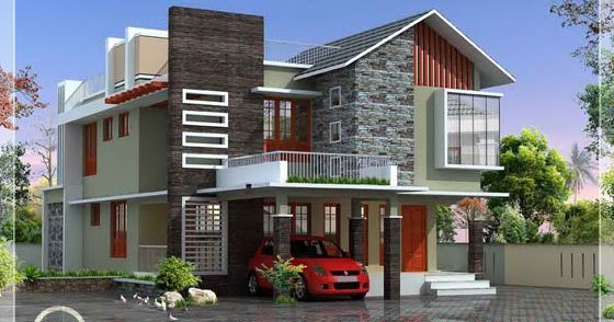 2500 contemporary modern home design kerala home for Modern home plans 2500 sq ft
