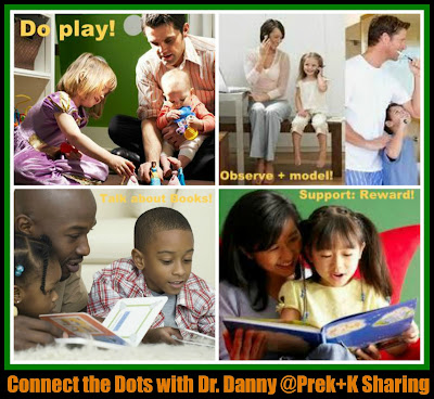 "photo of: ""Connecting the Dots"" by Dr. Danny Brassell at PreK+K Sharing"