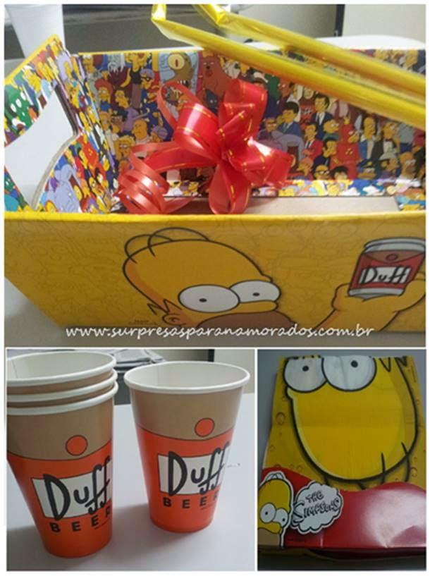 Cesta Temática dos Simpsons  Surpresas para Namorados