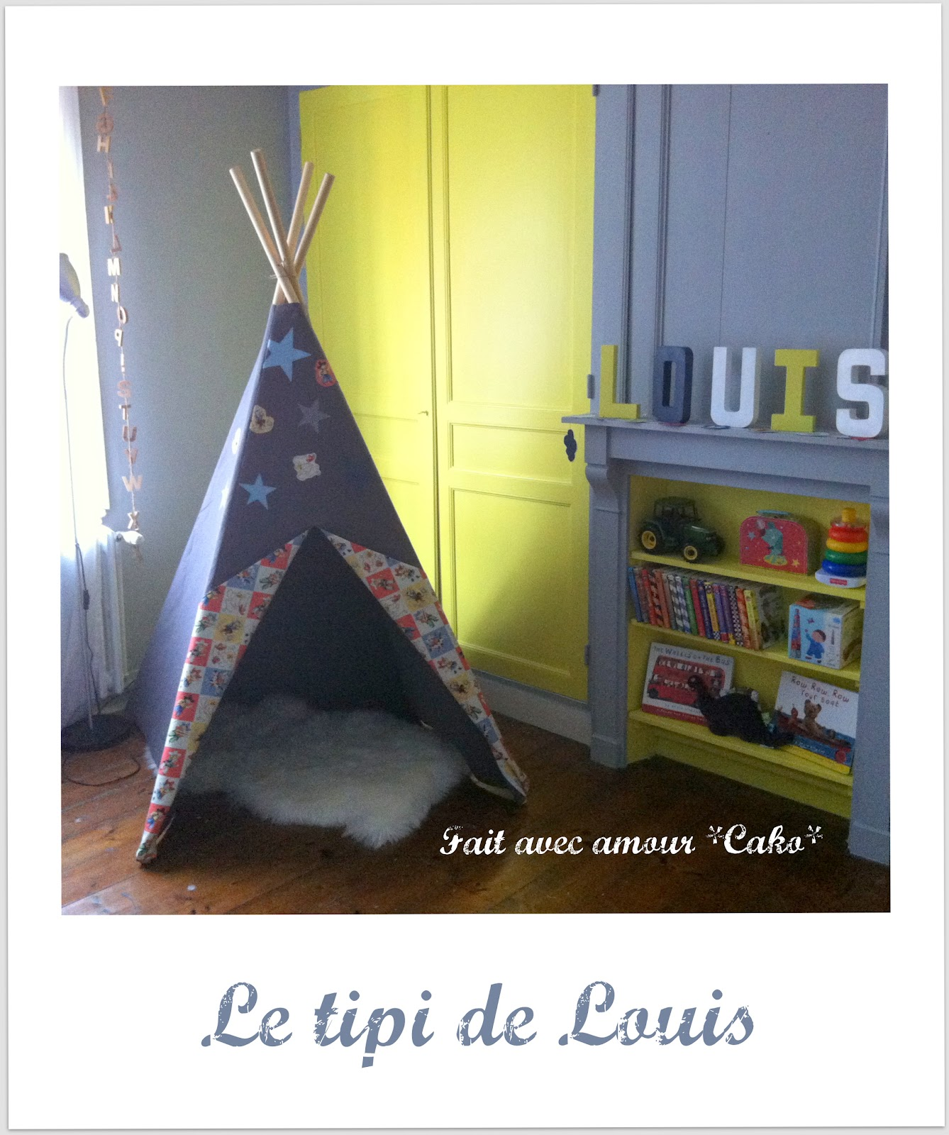 fait avec amour cako un tipi pour louis. Black Bedroom Furniture Sets. Home Design Ideas