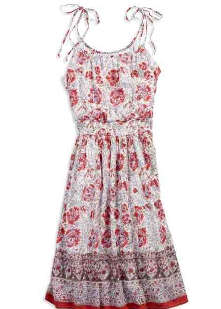 Cheap and fluffy american eagle floral peasant sundress