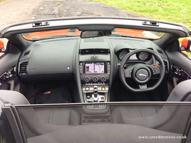 2013 Jaguar F-Type V6 S interior