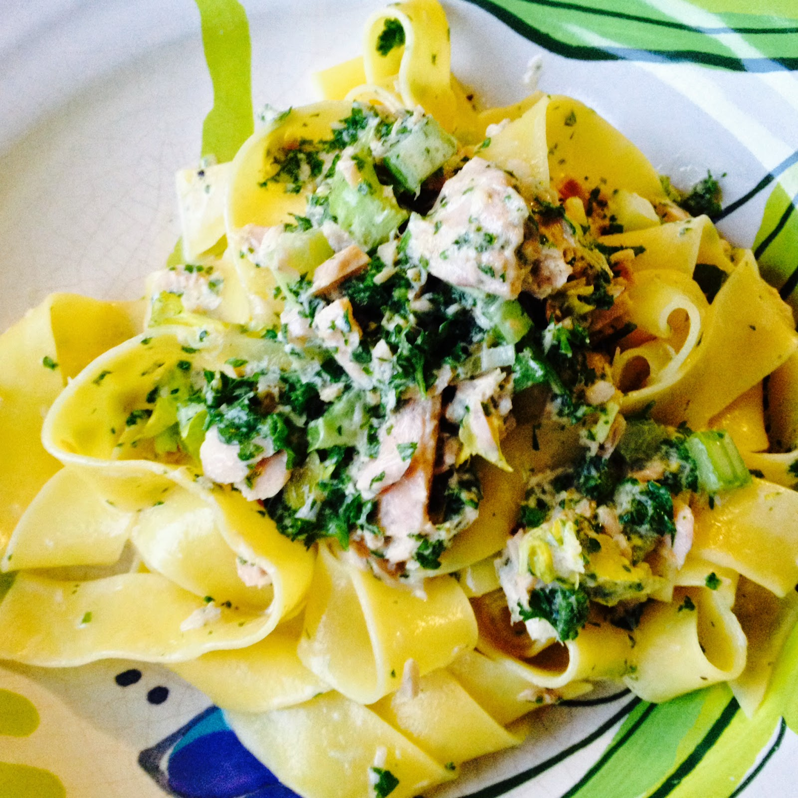 Pappardelle Pasta With Lemon And Cream