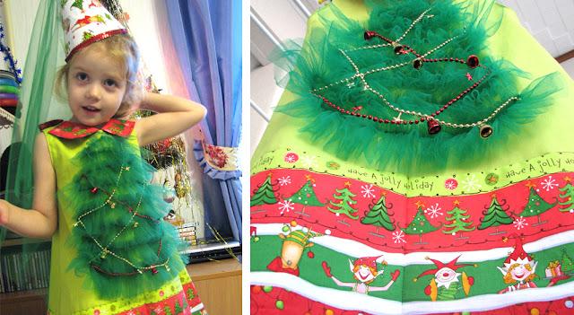 новогодний костюм для девочки, костюм елочки, американский хлопок, наряд для юной модницы, платье для девочки