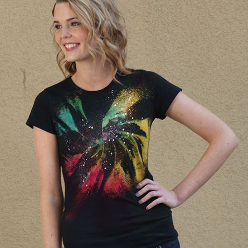 Galaxy Twist Bleach Tie Dye Shirt