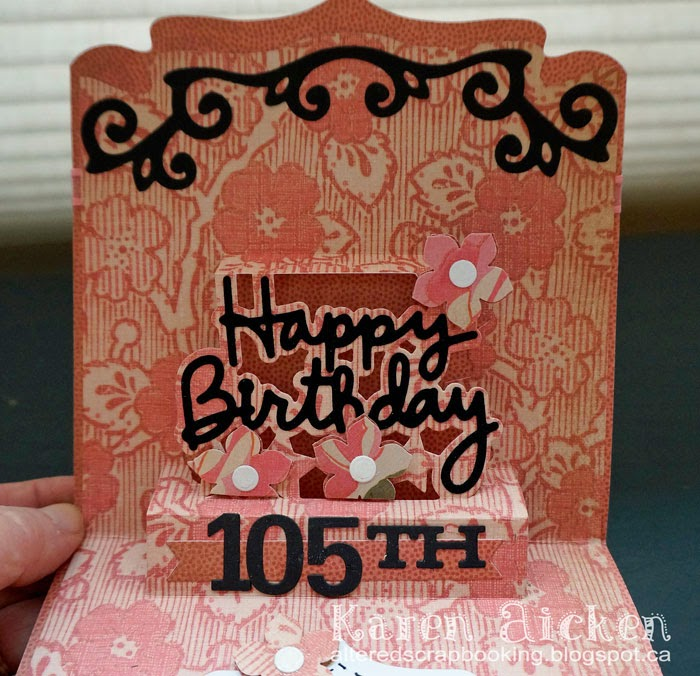 altered scrapbooking  happy 105th birthday agnes