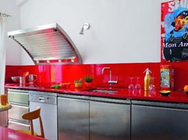 Jolies couleurs pour votre dosseret de cuisine d cor de maison d coration chambre - Accessoire de cuisine rouge ...