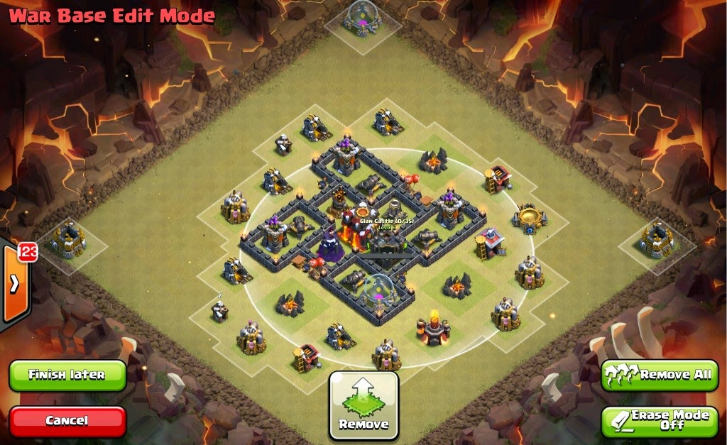 The picture of base war th 5 coc actual inidual layer towards core