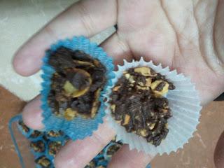Recette Rapide et faciles des roses des sables au chocolat et amandes