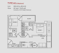 8 Farrer Suites 3 Bedrooms Floor Plan