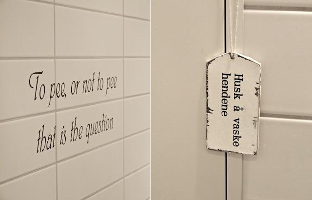Hvit romantikk: toalett blogging :)