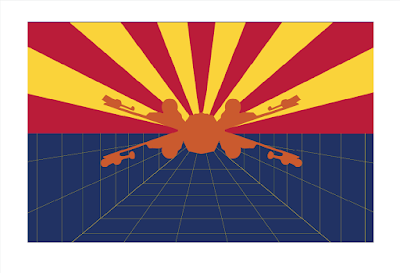 "Star Wars Flag Prints by Sket One - ""Stay on Target"" State of Arizona Flag"
