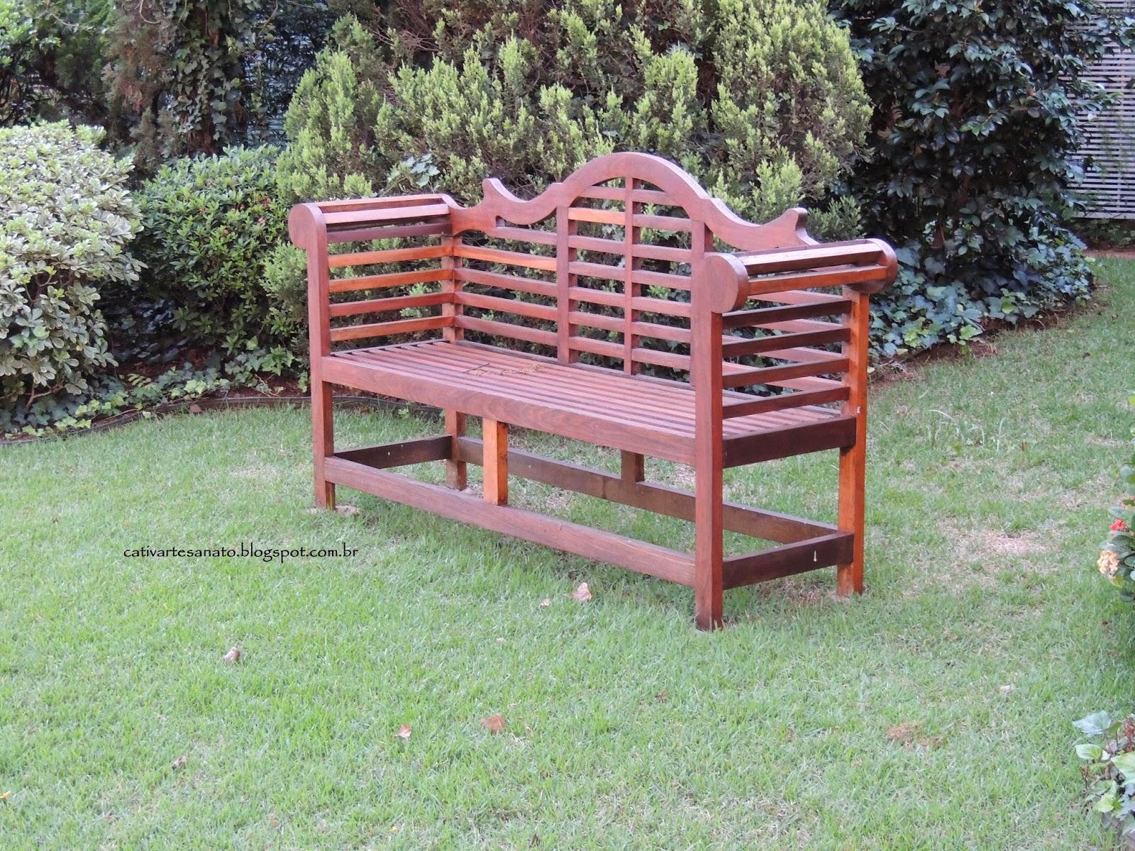 cativa artesanato: Bancos de madeira para jardim Toledo #89424D 1600x1200