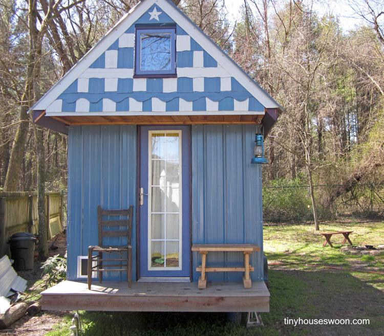 casa pequea de madera en estados unidos