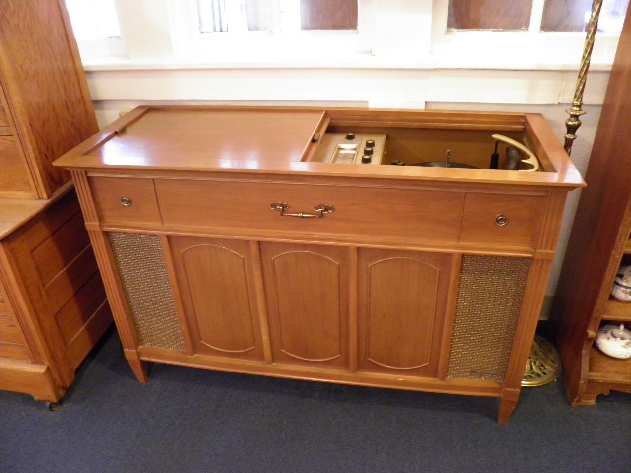 Vintage Console Stereo Phonograph