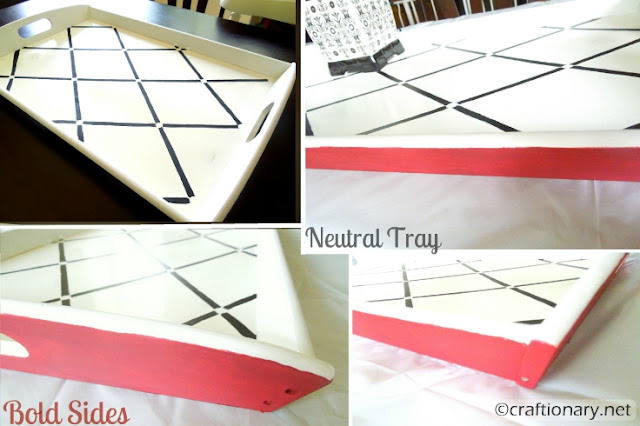 make stenciled decorative tray tutorial