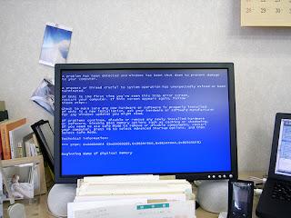 bluescreen error, harddisk error, layar biru