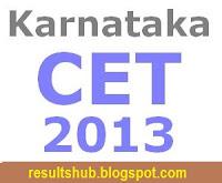 Karnataka CET (KCET) 2013 Results