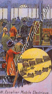 The first escalator, The electrically-driven moving staircase, patented in the United States during the 1890s, was developed by the Otis Elevator Company and first installed at the Paris Universal Exhibition in 1900.