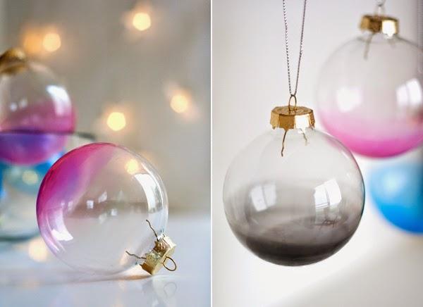 DIY, Bolas para el Arbol de Navidad con Pintura Traslucida