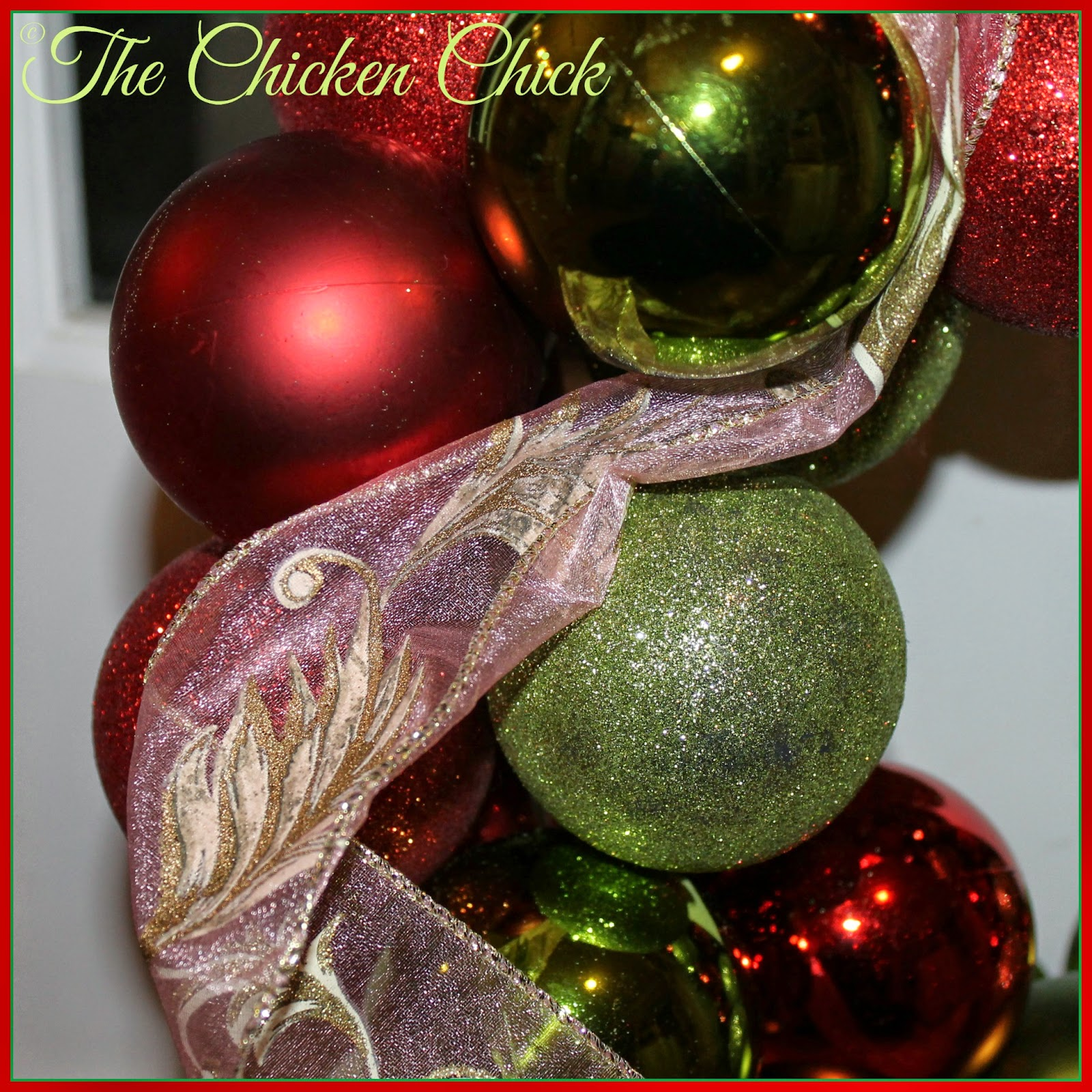 Chicken christmas ornaments - Optional Twist A Complimentary Colored Wired Ribbon In And Among The Ornaments