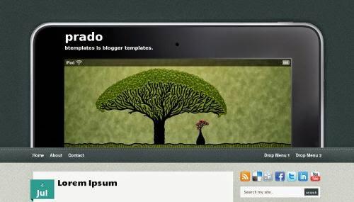 Prado - Free Blogger Template