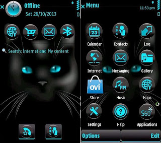 Cat Eyes Theme by Yris22 on Nokia 5800