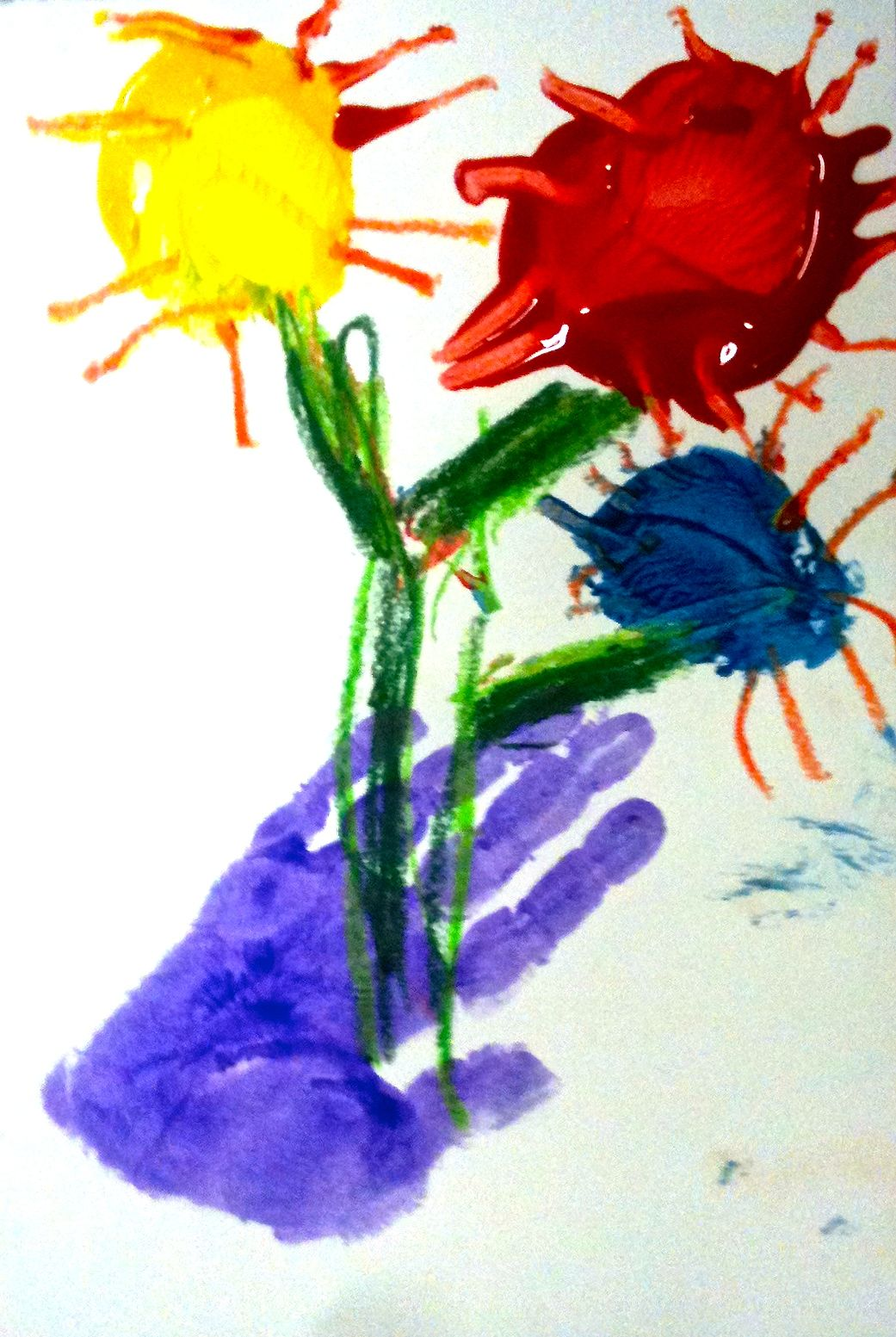 Kids Art Market: Color Wheel hand prints with Picasso
