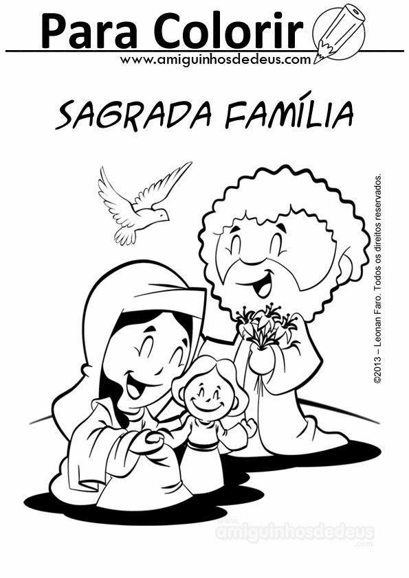 sagrada família desenho para colorir