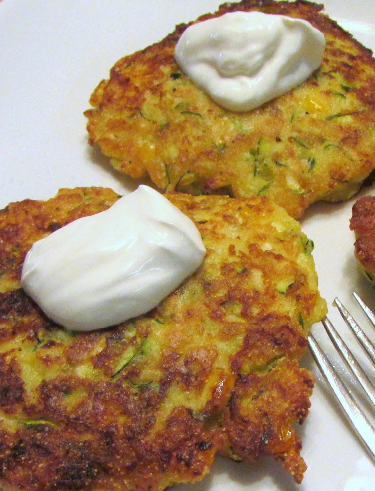 Baker Becky: Zucchini Corn Fritters