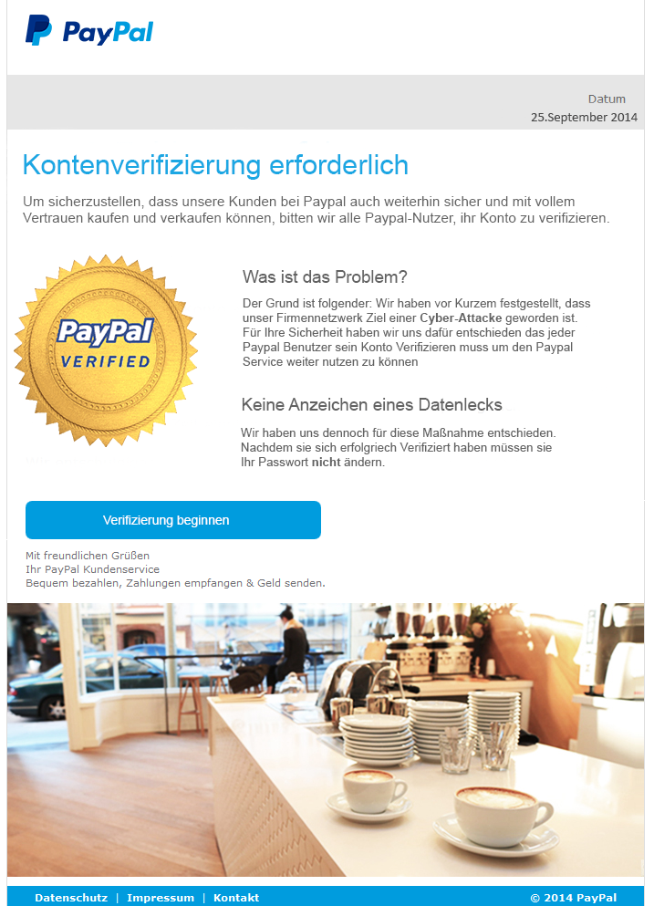 paypal verifizierung dauer