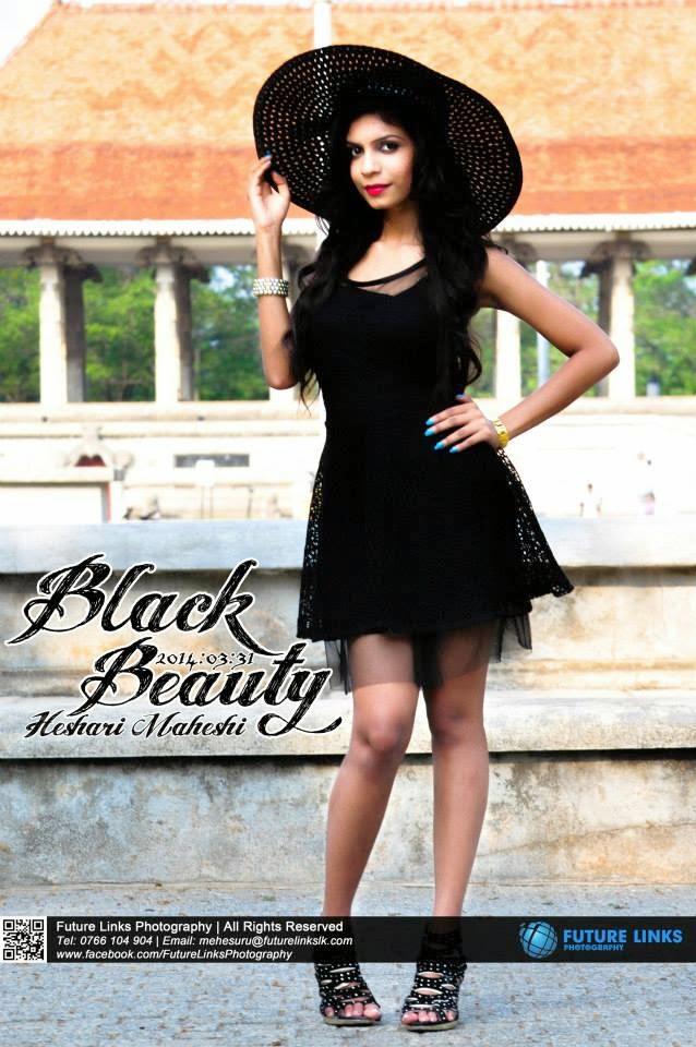 Heshari Maheshi black short dress