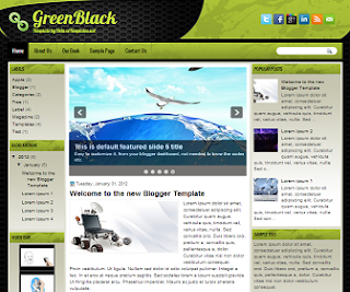 GreenBlack+Blogger+Template