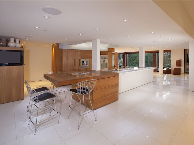 Photo of eating area by the kitchen island in the kitchen